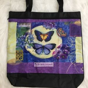 🆕 Floral & Butterfly Tote Bag